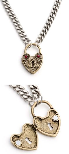 Unlock My Heart Necklace- it should have a key on another necklace. and it should only be able to be unlocked by the key