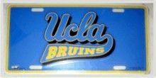"""This is an Authentic College Football UCLA Bruins Metal License Plate with Team Logo. Our embossed team license plates are made of durable 0.025"""" thick aluminium with embossed designs. Each license tag is oven backed with enamel-paints for durability. License plates are standard size 6""""x 12"""". Pre-drilled holes for easy mounting"""