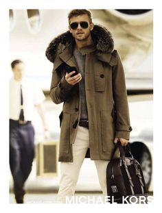 Benjamin Eidem Dons Duffle Coat for Michael Kors Fall/Winter 2015 Campaign Fall Fashion Outfits, Blazer Fashion, Only Fashion, Cool Outfits, Mens Fashion, Benjamin Eidem, Gq Usa, Michael Kors Fall, Duffle Coat