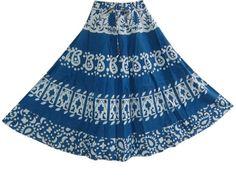 "Spring Fashion Bohemian Skirt Gypsy Fashion Skirt Denim Blue Hippy Skirts, Length 32"" Mogul Interior,http://www.amazon.com/dp/B00CE53ZPQ/ref=cm_sw_r_pi_dp_cpH4rb1DG12JS4RF"