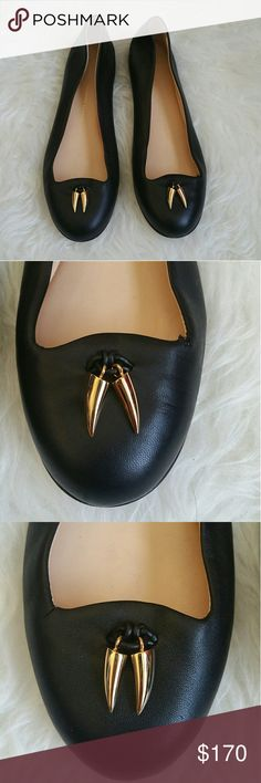 GIUSEPPE ZANOTTI FLATS Worn a couple of times in great condition. Great with slacks, jeans, skirts, and dresses.The only flaw it there are two tear on each pair but the top of the toe area but nothing to major. I no longer have the box or the receipt. Giuseppe Zanotti Shoes Flats & Loafers