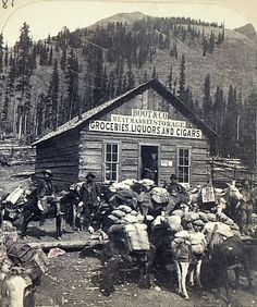 lake city colorado - grocery store back in the 1800s