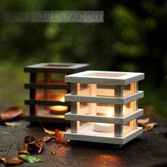 Innovative Wooden Candle Holders : Tidebuy.com