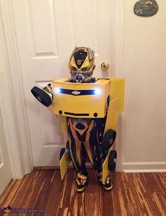 Transforming Bumblebee Transformer Costume - Halloween Costume Contest via @costume_works