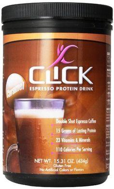 Click Espresso Protein Drink, Caramel, 15.31 Ounce CLICK http://www.amazon.com/dp/B00IKCPV54/ref=cm_sw_r_pi_dp_Oyw8tb0EVDXZ5