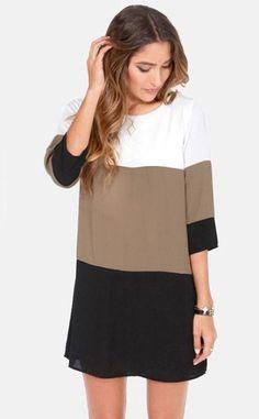 Vestido Solto Três Cores - Raylim Modas