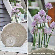 DIY Beton! runde Vase mit Anleitung von www.SmillasWohngefuehl.blogspot.com