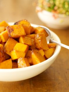 Squash is �great for roasting.  I coat it with maple syrup for a sweet vegetable taste.