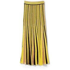 Missoni Skirt ($1,350) ❤ liked on Polyvore featuring skirts, yellow skirt, missoni skirt, missoni, elastic skirt and lined skirt