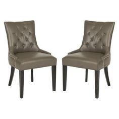 Safavieh Abby Tufted Faux Leather Side Dining Chairs - Set of 2 - MCR4701K-SET2