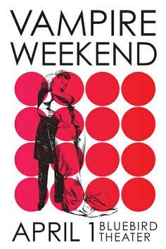 Vampire Weekend - gig poster - Beth Vandewalker
