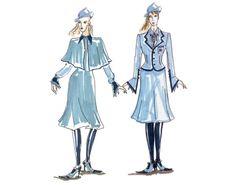 An illustration of Fleur in school uniform