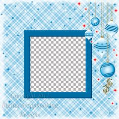 """Layout QP 26C.....Quick Page, Blue, Digital Scrapbooking, Christmas Time Collection, 12"""" x 12"""", 300 dpi, PNG File Format"""