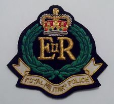 Royal Military Police Blazer Badge, RMP, R.M.P, Army, Military, Embroidered