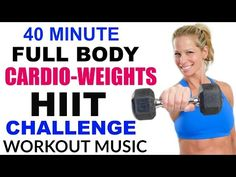 40 Minute Fat Burning, Total Body HIIT Workout with Dumbbells, Full Body workout with Weights - YouTube
