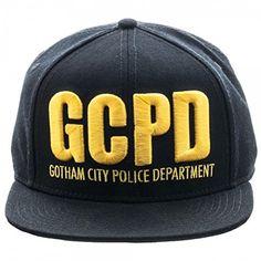 244926b7440 Gotham Batman GCPD Embroidered Logo Flat Brim Baseball Cap Snapback Hat    niftywarehouse.com
