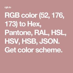 rgb color to hex pantone ral hsl hsv hsb json get color scheme
