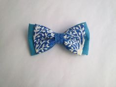 LIMITED EDITION Blue printed bow tie Double blue by KristineBridal, $34.77