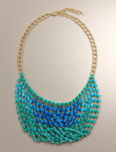 Talbots - Woven Bead Necklace | #Jewelry $59.50