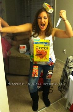 Funny Last-Minute Homemade Costume Idea: Cereal Killer… Enter the Coolest Halloween Costume Contest