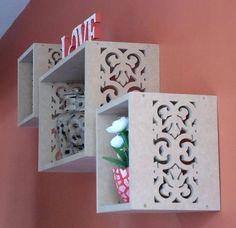 Cube Wall Shelves Set of 3 Storage by DiJardim on Etsy