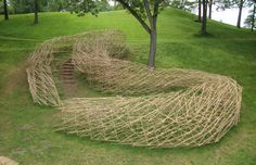 A Bamboo River Runs Through Storm King - Stream: A Folded Drawing by Stephen Talasnik