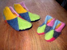 Needle Felting, Slippers, Knitting, Fashion, Ponchos, Creative, Moda, Tricot, Fashion Styles