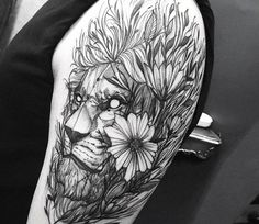 Lion tattoo by Fredao Oliveira