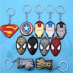 Superman Keyring or Bag Charm Gift Hero Superheroes Blue Red Power Man