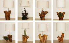 Lámparas con ramas de árboles ya inertes, de Simone Lescher