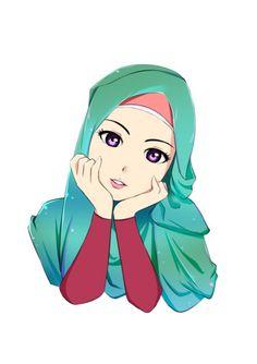 Hasil gambar untuk hijab drawings in colours Cute Cartoon Pictures, Cute Cartoon Girl, Cartoon Girl Drawing, Cartoon Sketches, Couple Cartoon, Cartoon Images, Muslim Pictures, Muslim Images, Crown Illustration