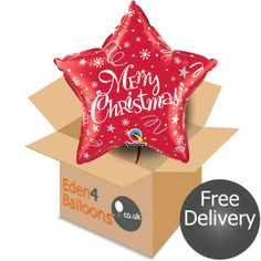 Christmas Star Balloon in a Box