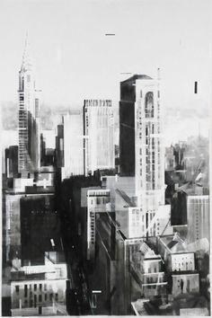 Summer 1965 wessel huisman schilderij zwart wit stad kunst art painting wessel - Entree schilderij ...