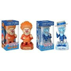 Snow Miser & Heat Miser Bobblehead Wacky Wobbler Set Year Without A Santa Claus