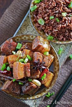 Braised Pork Belly - don't know how 1.5 lbs pork belly only serves 2, but that's what the recipe states