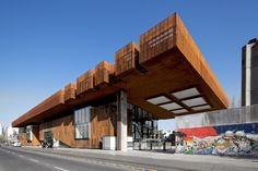 Gabriela Mistral Cultural Center, by Cristian Fernandez Arquitectos and Lateral Arquitectura & Diseño, in Chile. For its stability and free trade agreements, Xavier Rodriguez decided to set up his international firm in Chile. Architecture Design, Contemporary Architecture, Industrial Architecture, Beautiful Architecture, Atelier Design, Dance Rooms, Types Of Steel, Weathering Steel, Reinforced Concrete