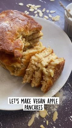 Healthy Vegan Desserts, Delicious Deserts, Vegan Dessert Recipes, Vegan Breakfast Recipes, Vegan Sweets, Dairy Free Recipes, Vegetarian Recipes, Cooking Recipes, Yummy Food