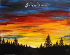 Sunset, August 30th 2pm Tacoma Uncorked Canvas