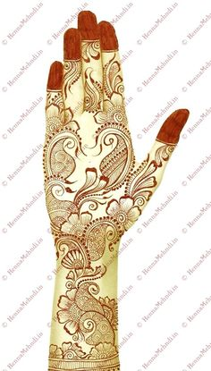 Arabic mehndi design can be applied during party times. This attractive arabic mehndi design is drawn with floral paisleys with dotted zardosi borders. Hena Designs, Arabic Henna Designs, Wedding Mehndi Designs, Best Mehndi Designs, Arabic Mehndi, Simple Mehndi Designs, Mehndi Designs For Hands, Mehandi Designs, Art Designs