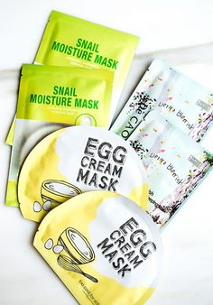 And of course the famous sheet masks! Along with sleeping masks, there is something called the sheet mask. It's pretty much a cloth that has been soaked in the most hydrating serum that you...