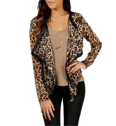 Pre-Order: Leopard Print Open Jacket