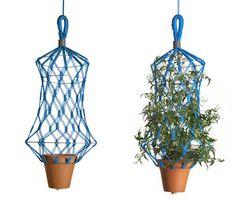 llotllov / hanging basket macreamà net / not just for grandma
