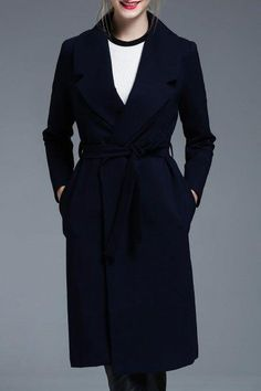 Belted Long Wrap Coat