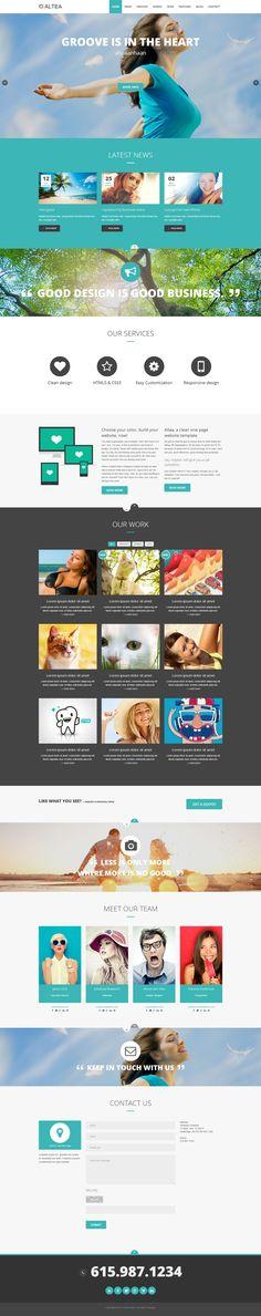 Altea   Parallax One Page HTML5 Template by Zizaza - design ocean , via Behance
