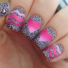 Black, white and pink zig zags, hearts and leopard print!!