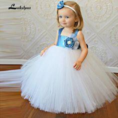 2017 Baby Ball Gown Flower Girl Dress White Kids Evening Gowns Cheap Kids Pageant Dresses Green Flower Girl Dress