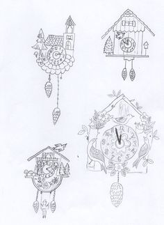 After finishing my folky phone cover, I just couldn't seem to stop! I had some other quick pencil sketches I had drawn a few weeks ago before we had our final assignment, and thought I'd have a go ...