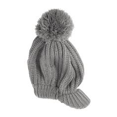 You can pair this gray knit hat with any outfit or coat for a classic polished look.