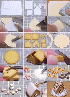 How to make a Miniature Gingerbread house?
