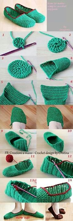 Love making crochet slippers - they're quick, easy and make perfect gifts! Sie Hausschuhe, wie man macht Wonderful DIY Crochet Slippers and Mini Heart with Free Pattern Diy Crochet Slippers, Crochet Diy, Love Crochet, Crochet Crafts, Crochet Projects, Tutorial Crochet, Slippers Crochet, Beautiful Crochet, Crochet Slipper Pattern